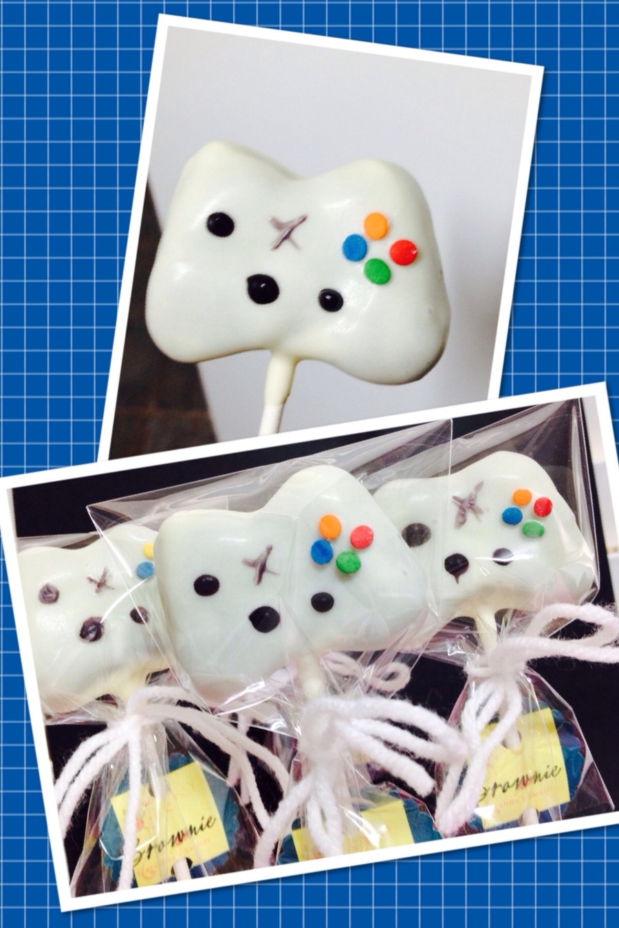 Little Xbox Remotes Brownie Cake Pops on Cake Central