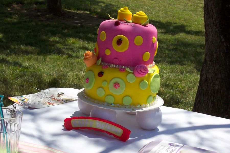 Fondant Birthday Tier Cake. on Cake Central