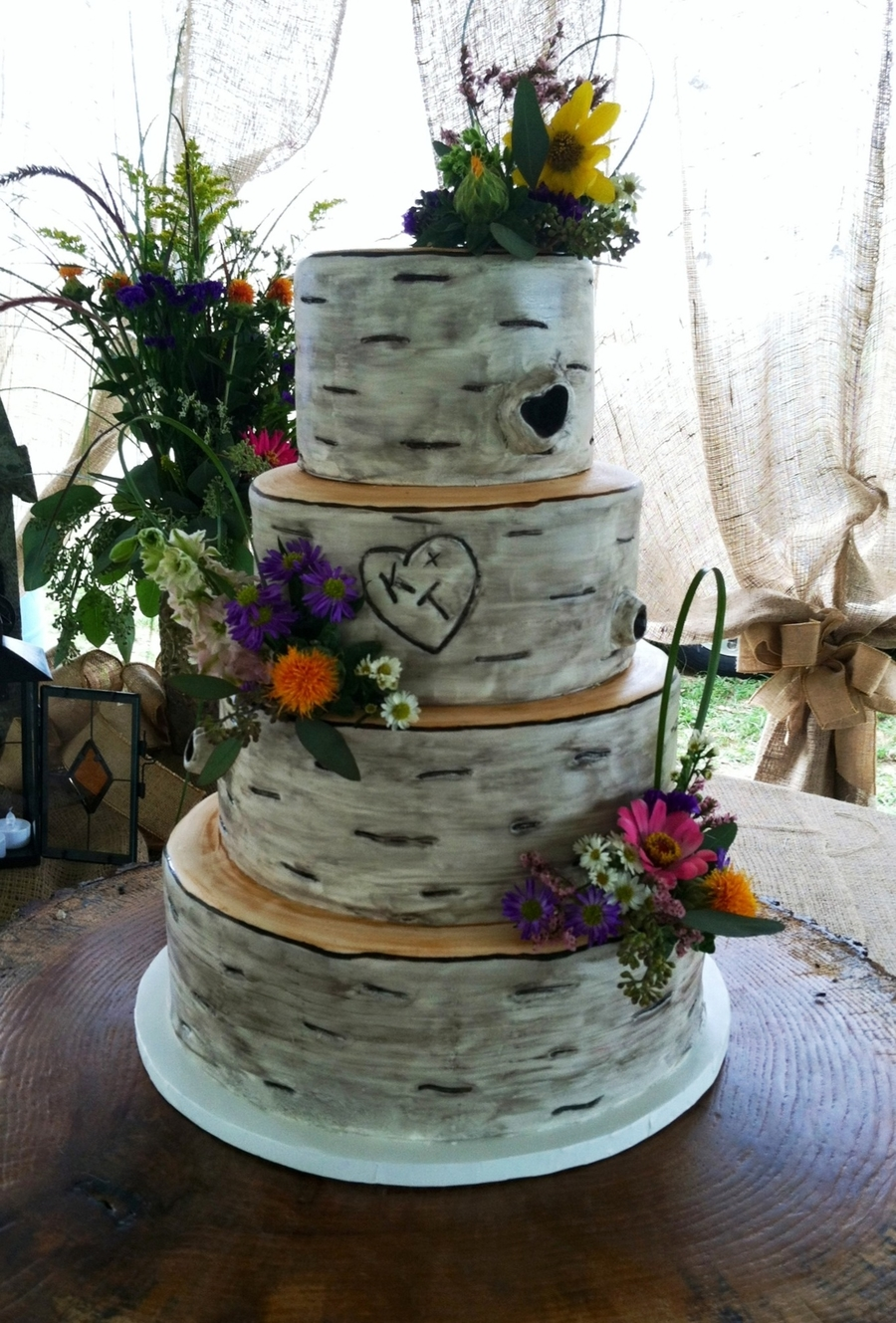 the wedding cake tree birch tree wedding cake cakecentral 20916