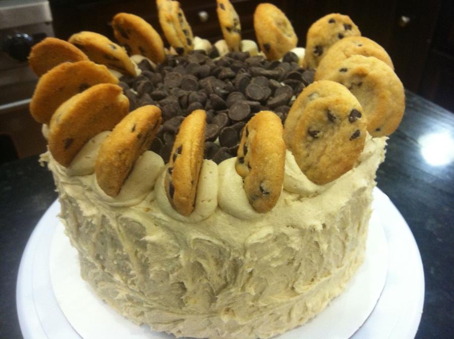Chocolate Chip Cookie Dough Cake - CakeCentral.com