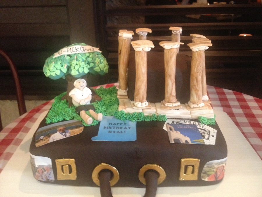 Greece Vacation Cake on Cake Central