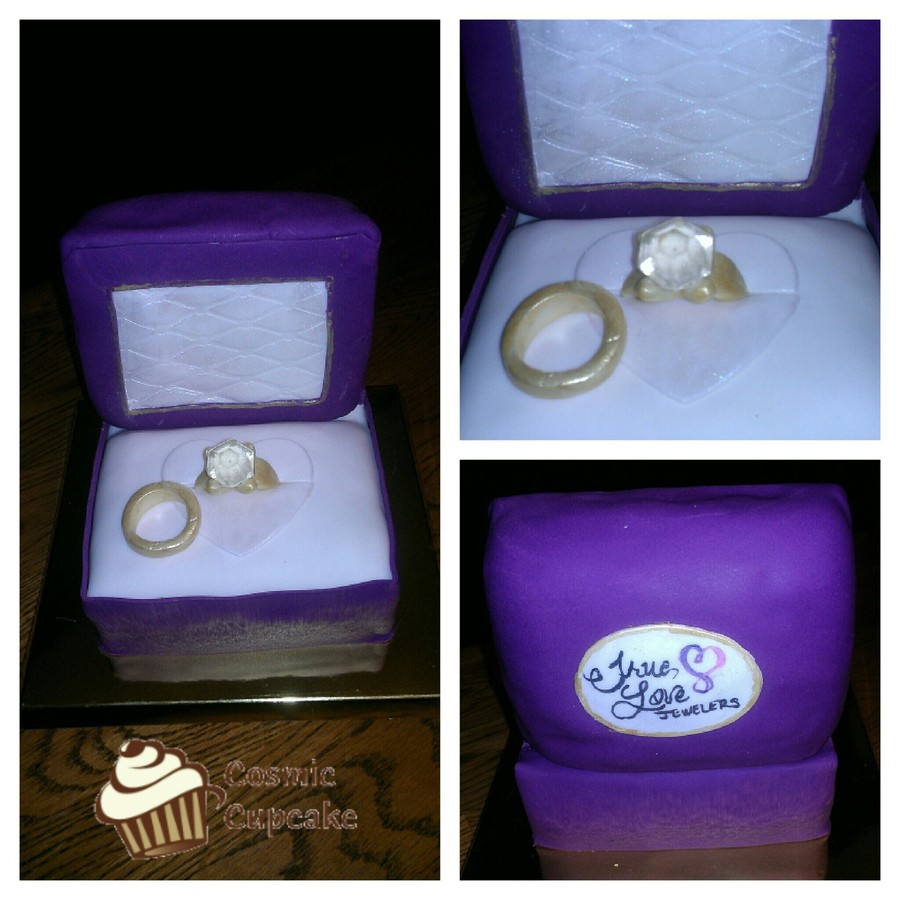 Engagement Mini-Cake on Cake Central