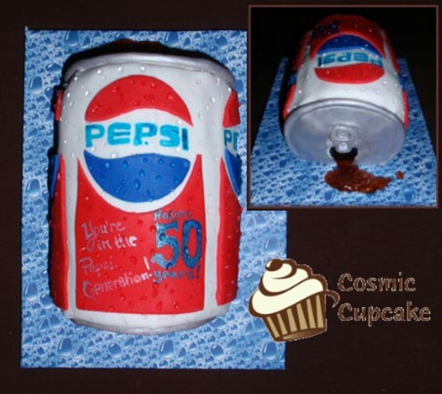 Pepsi Generation Birthday Cake on Cake Central