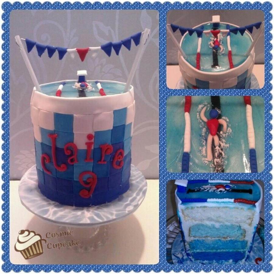 Birthday Swimmer on Cake Central