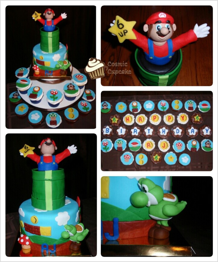 Super Mario Mini-Cake And Cupcakes on Cake Central