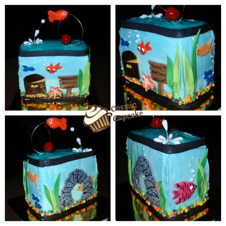Fish Tank Birthday Mini-Cake  on Cake Central