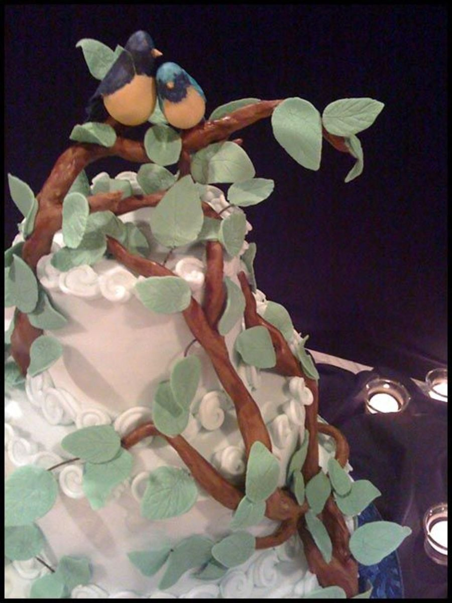 Gumpaste Lovebirds on Cake Central