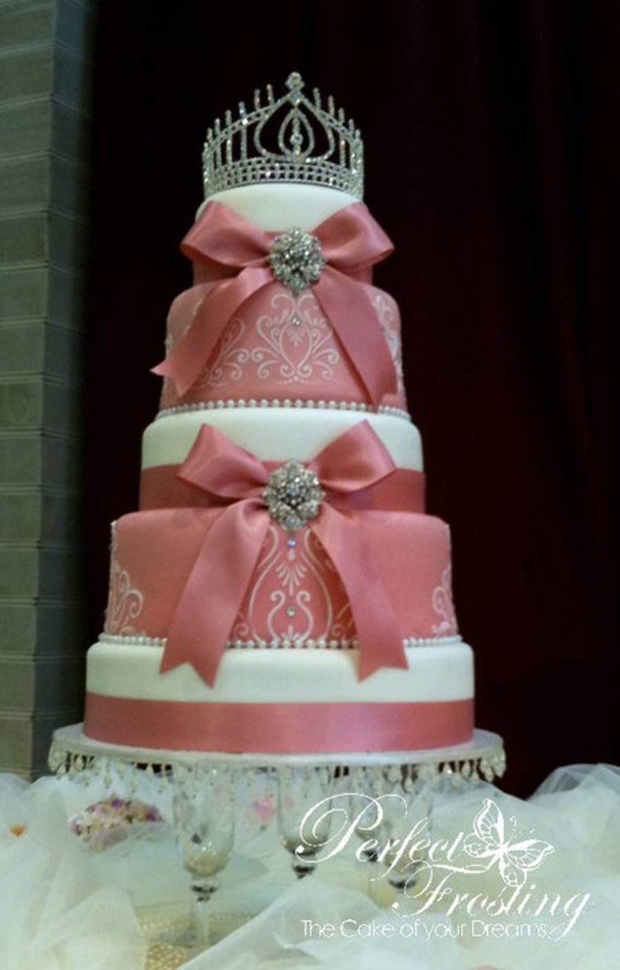 Faberge (Pink)  on Cake Central
