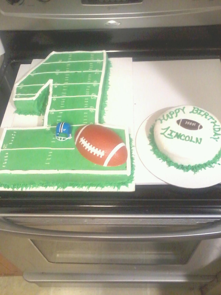 Surprising Football 1St Birthday Cake Cakecentral Com Personalised Birthday Cards Paralily Jamesorg