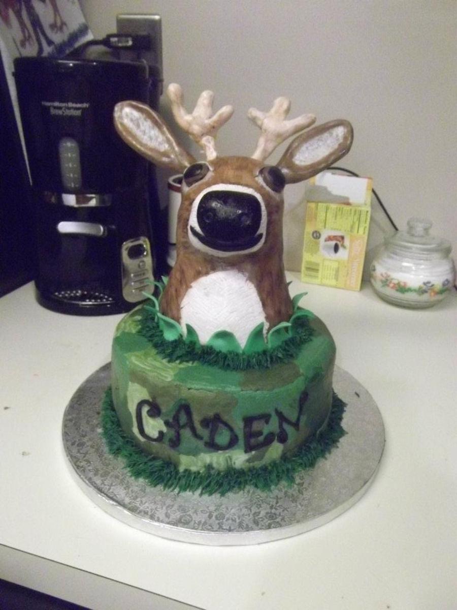 3d Deer Head Birthday Cake Cakecentral