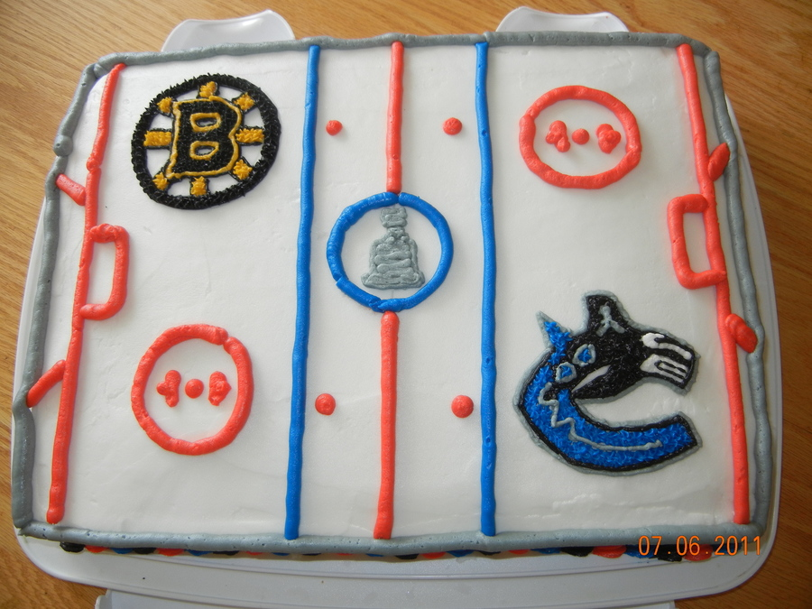 Stanley Cup 2011 Boston Vs Vancouver on Cake Central