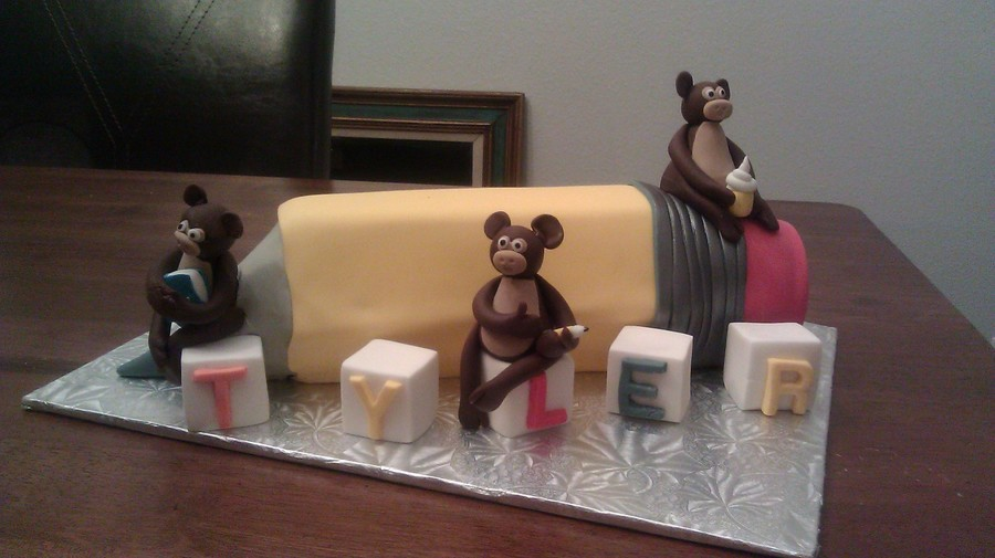 Pencil And Monkeys on Cake Central