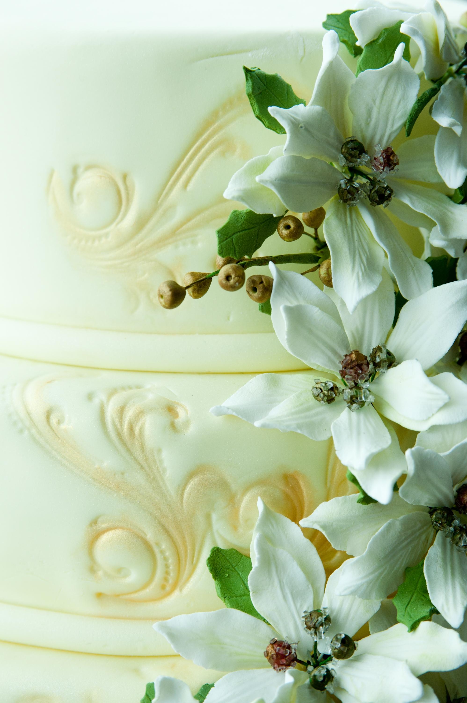 White Poinsettia Wedding Cakecentral Com