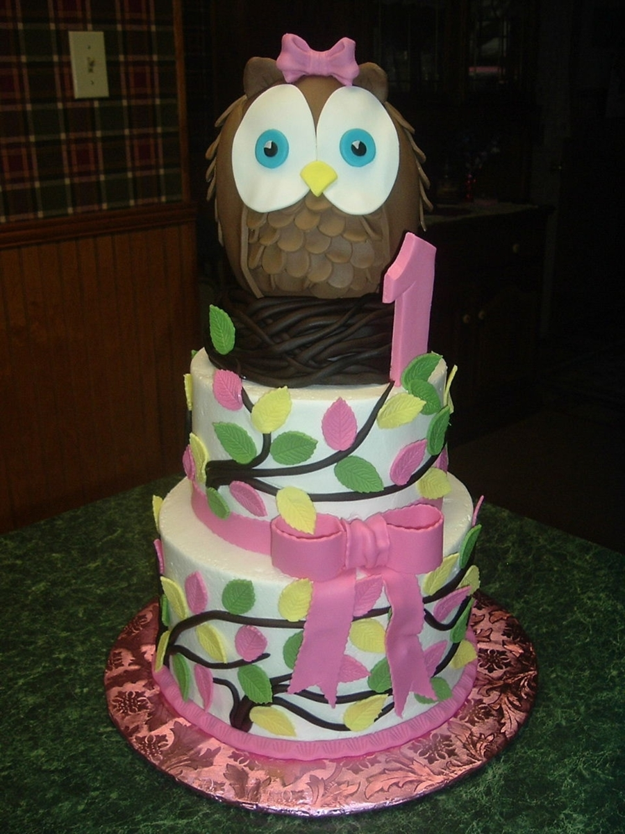 Owl On Nest on Cake Central