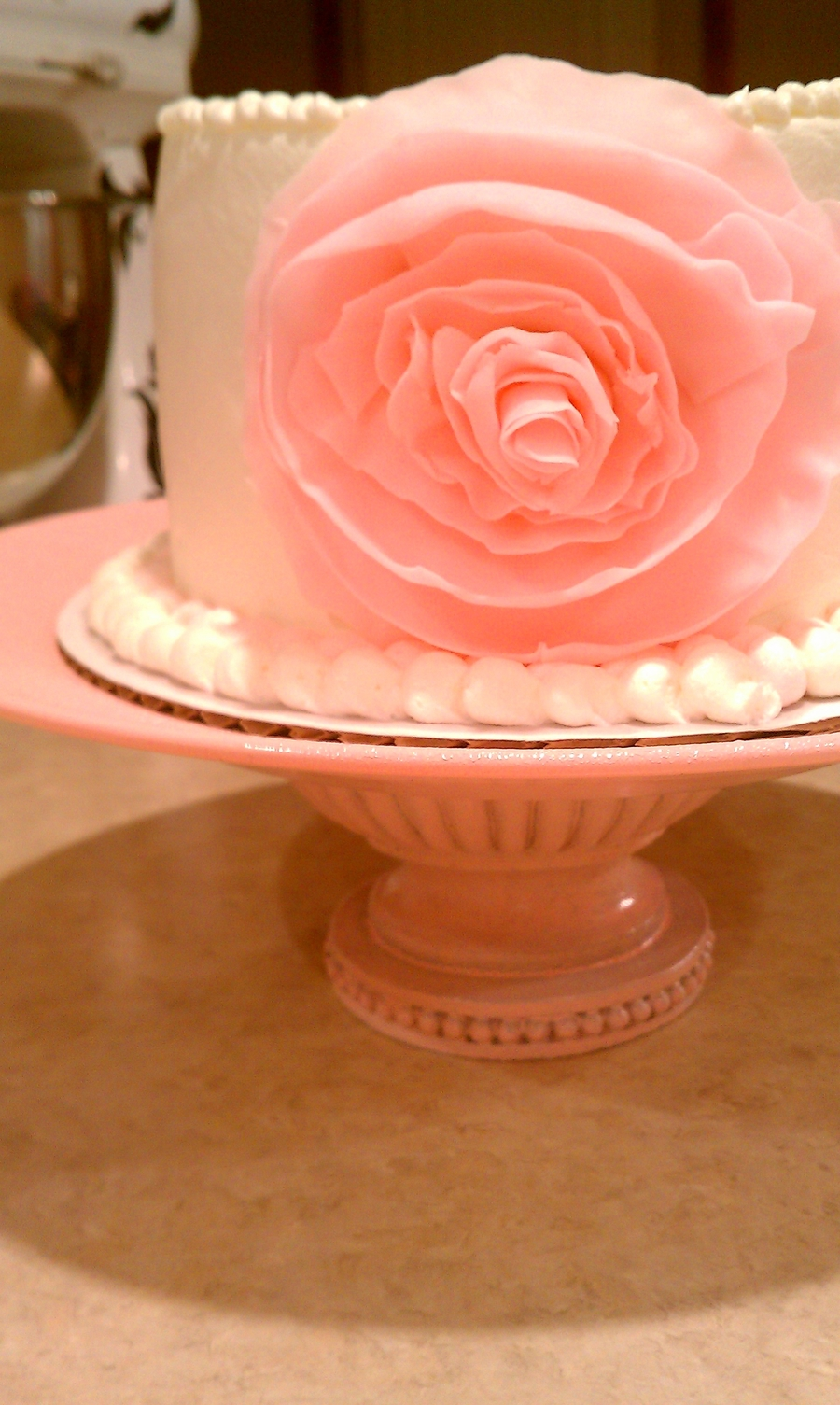 Ruffled Fondant Flower on Cake Central