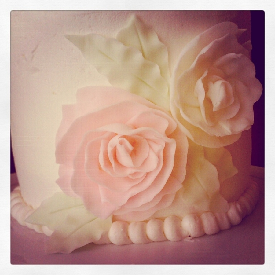 Ruffled Flowers Birthday Cake on Cake Central