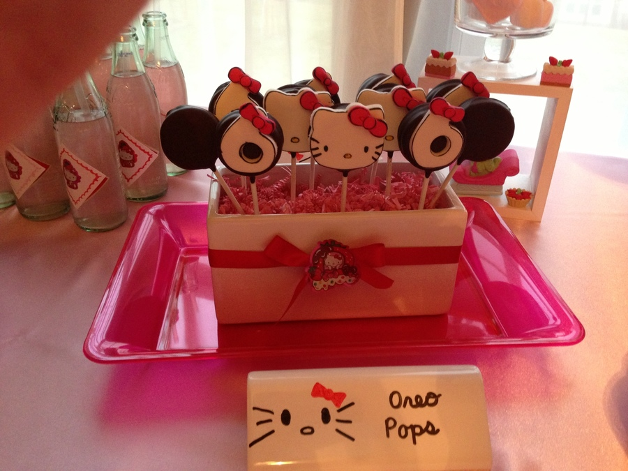 Hello Kitty Oreo Pops on Cake Central