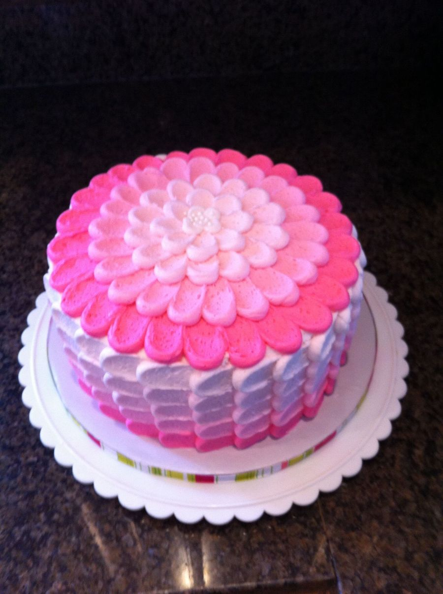 Pink Ombre Petal Cake on Cake Central
