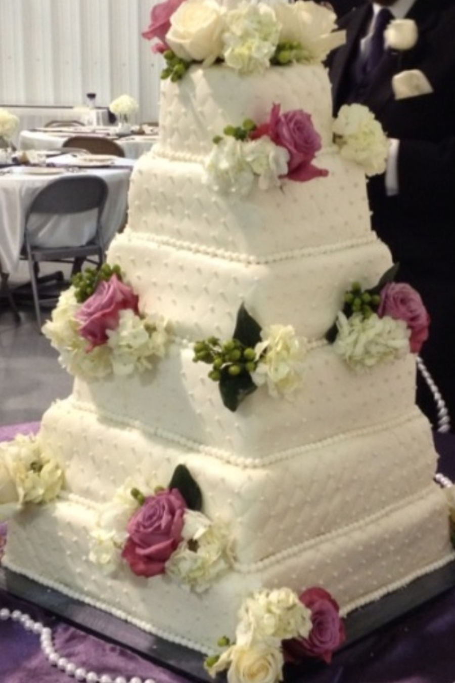 Karyn's Wedding Cake on Cake Central