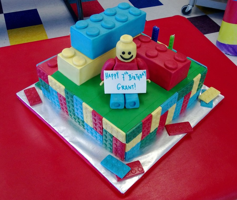 Lego Yellow Man Birthday Cake on Cake Central