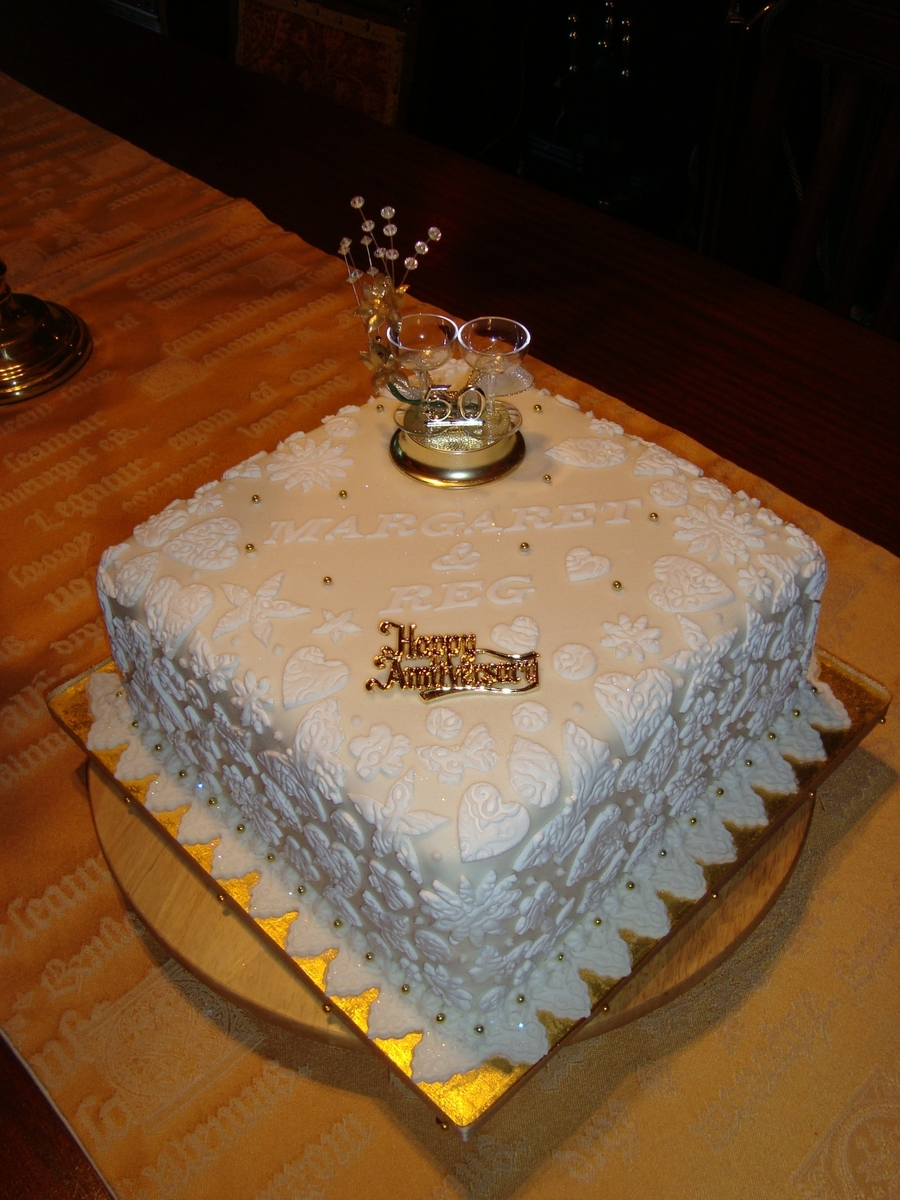 50Th Wedding Anniversary Cake. on Cake Central