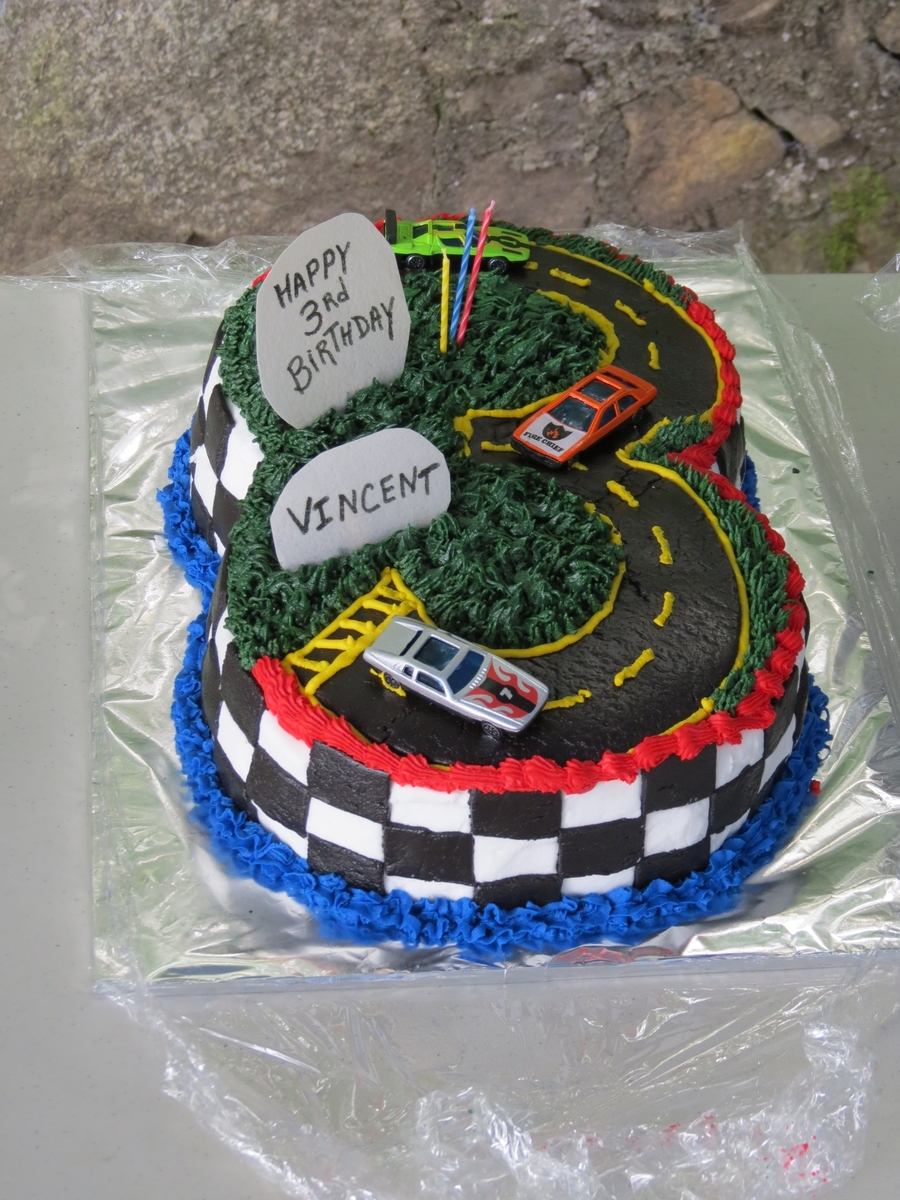 3Rd Birthday Racetrack  on Cake Central