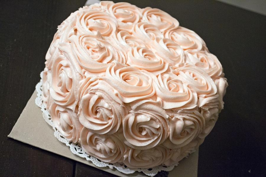 Buttercream Roses Cake Cakecentral Com