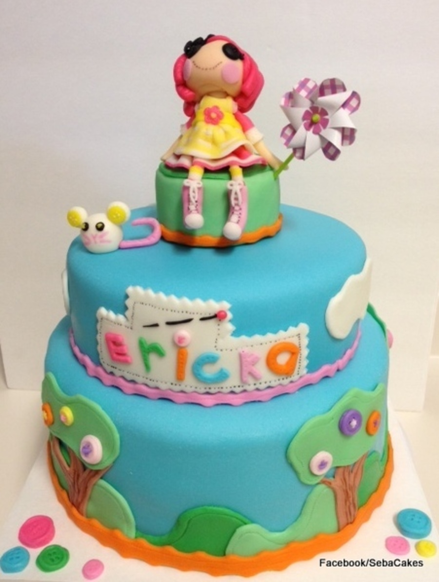 Lalaloopsy Birthday Cake Fondant Accents on Cake Central