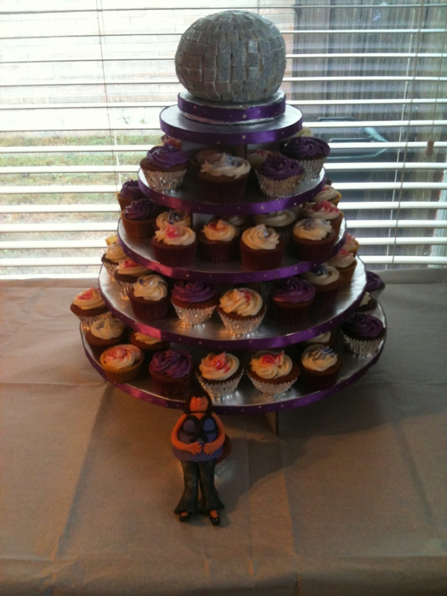 Disco Ball Cupcake Tree on Cake Central