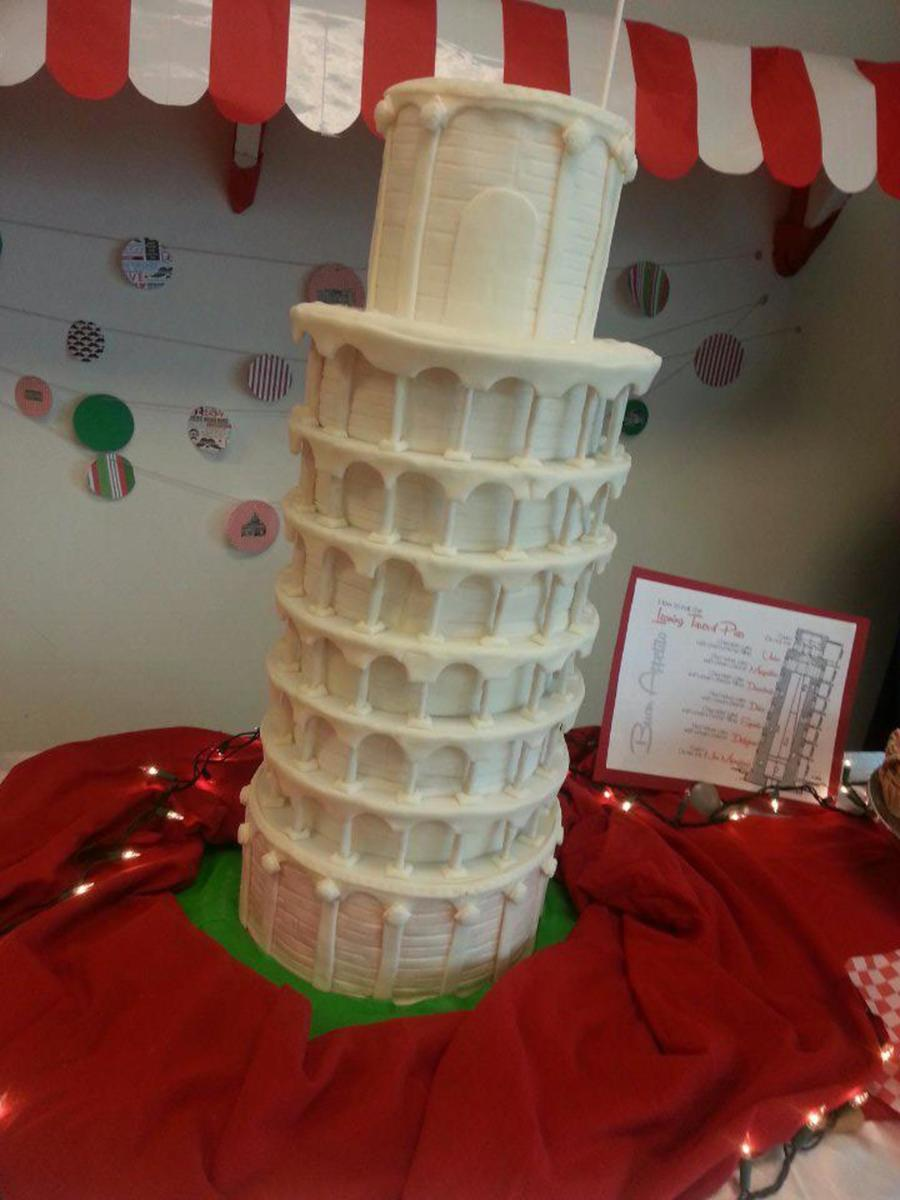 A Night In Italy Leaning Tower Of Pisa Cakecentral Com