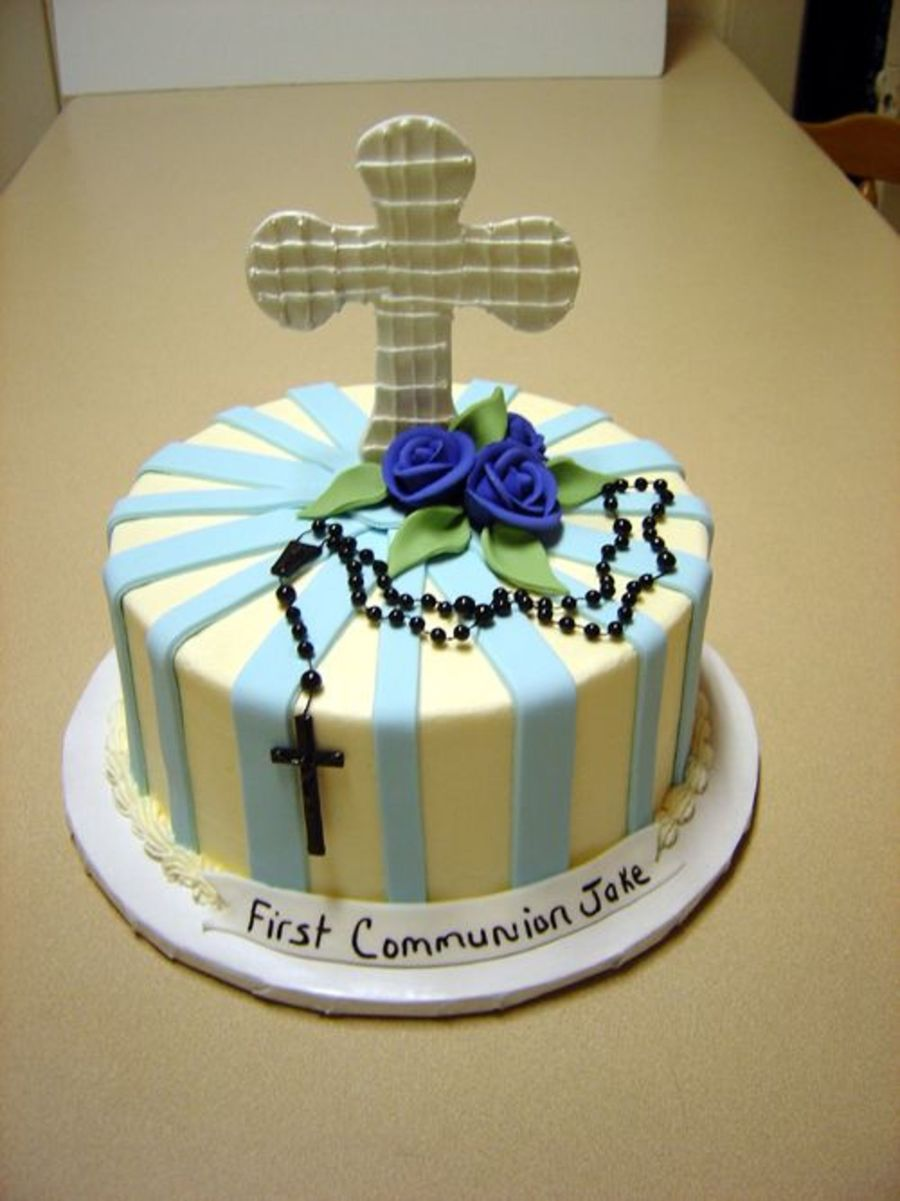 Blue Communion on Cake Central