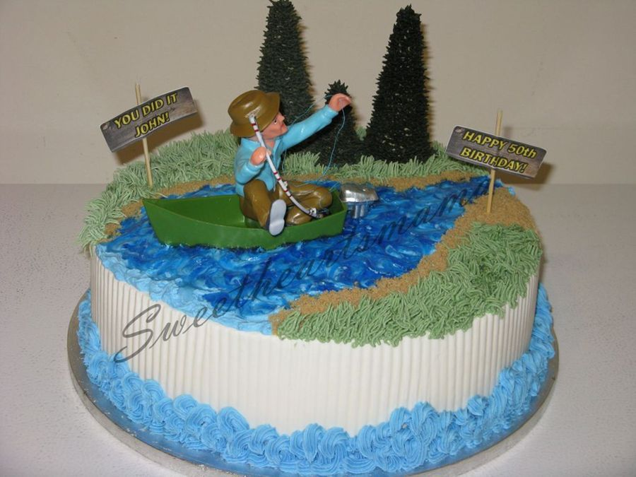Frustrated Fisherman  on Cake Central