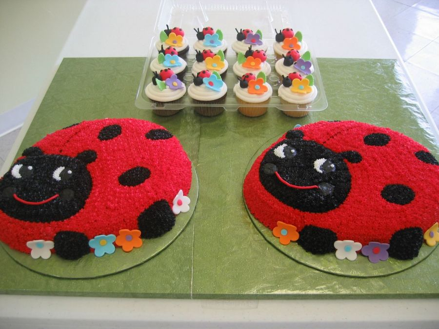 Lots O'lady Bugs on Cake Central