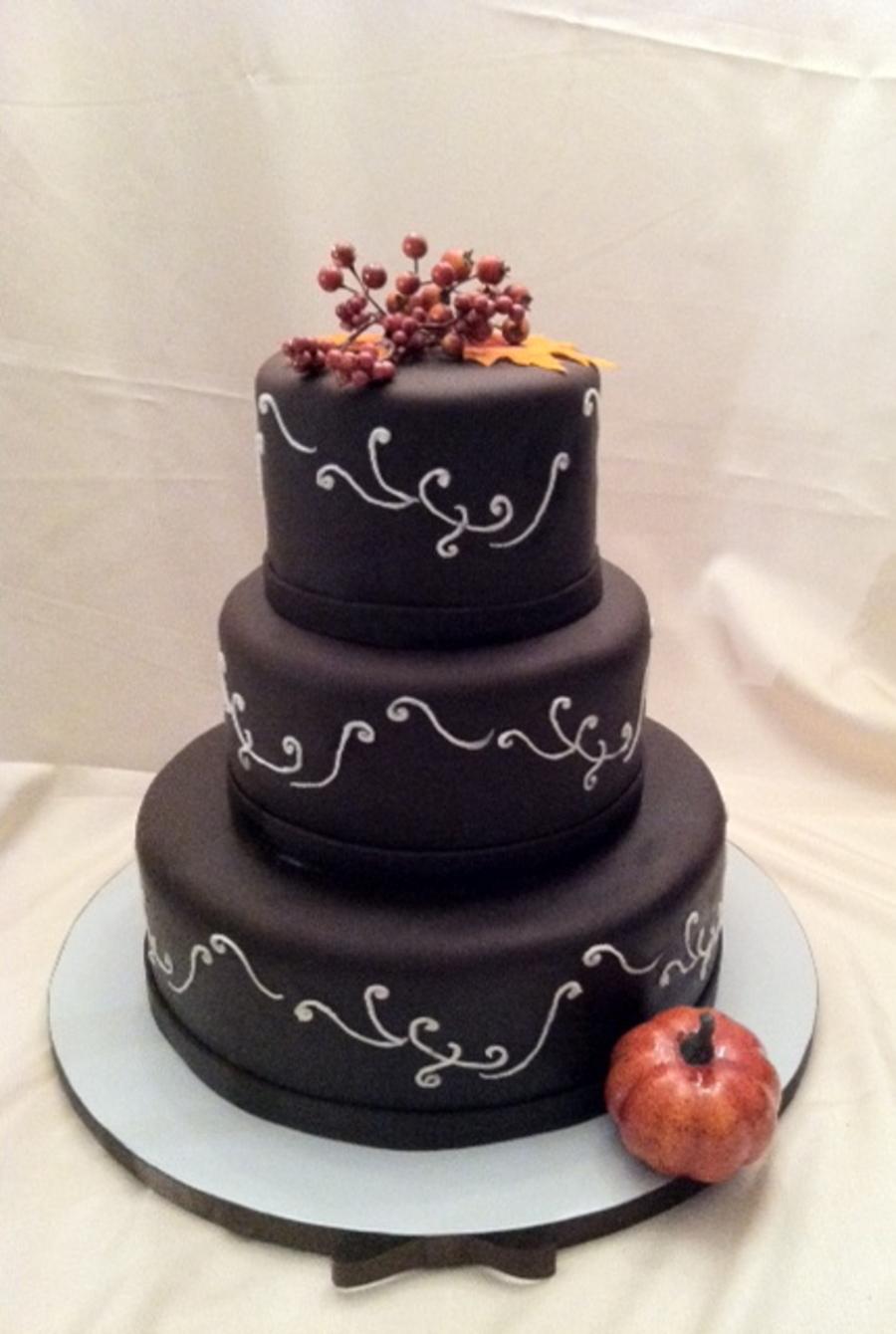 Cake Designs No Fondant : Dark Chocolate Fondant Wedding Cake - CakeCentral.com