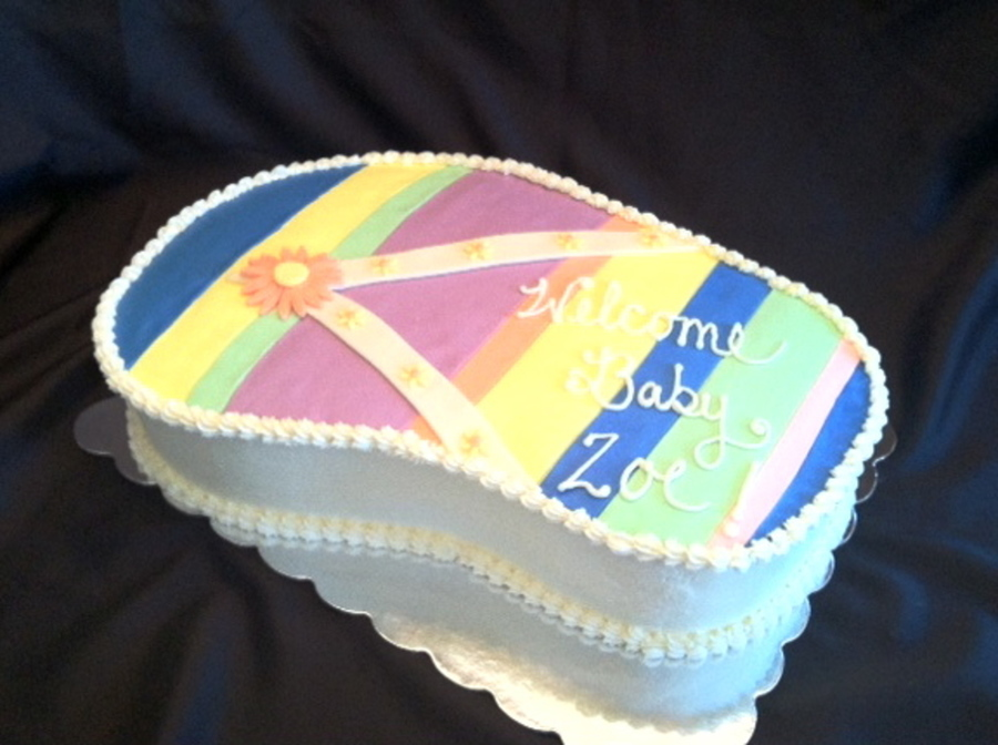 Baby Shower Cakes Dc ~ Flip flop baby shower cake cakecentral