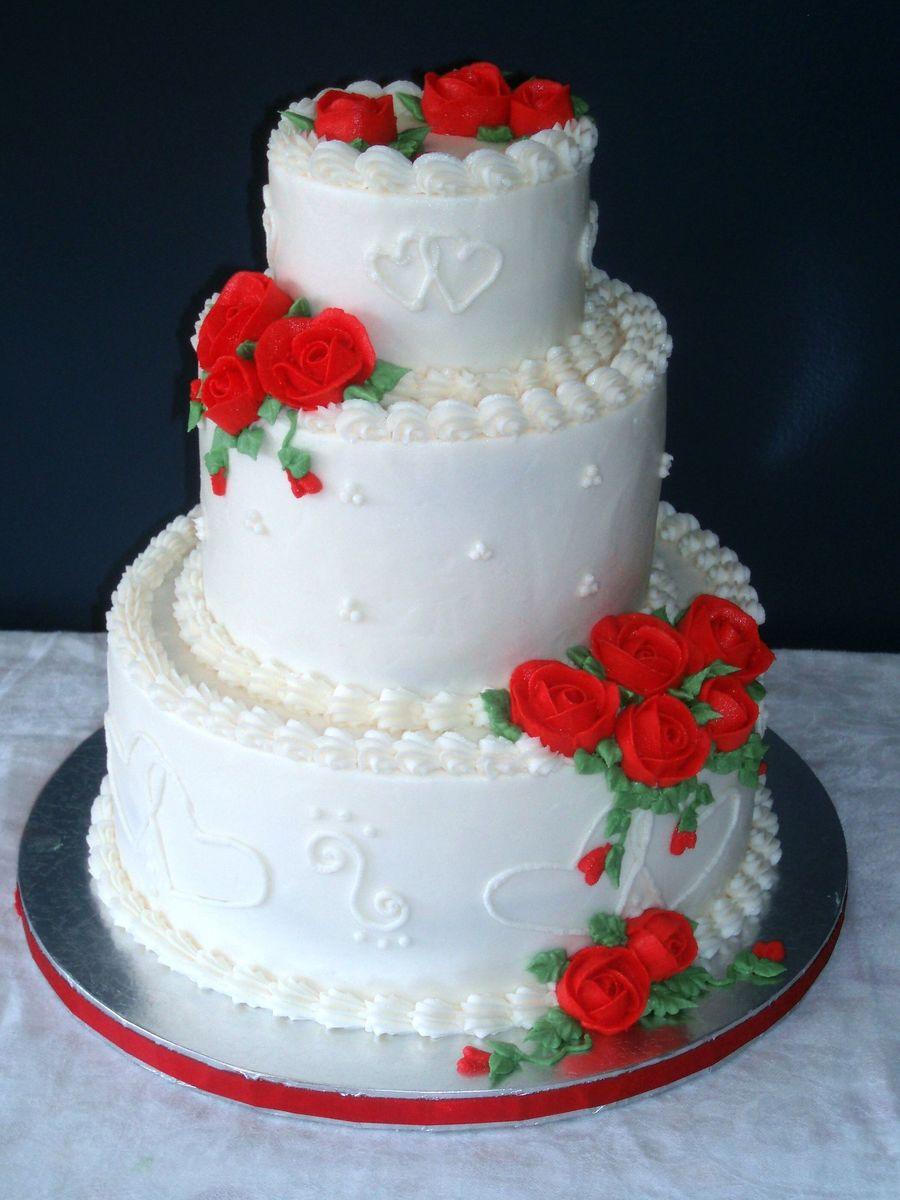 Valentine's Day Wedding Cake on Cake Central