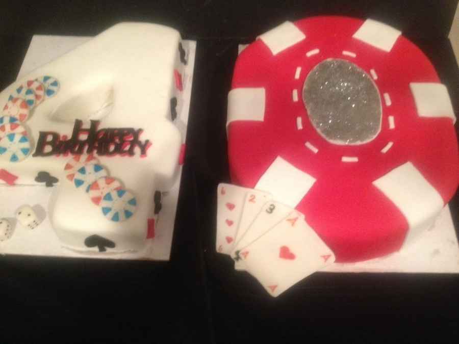 Poker 40Th Birthday Cake on Cake Central