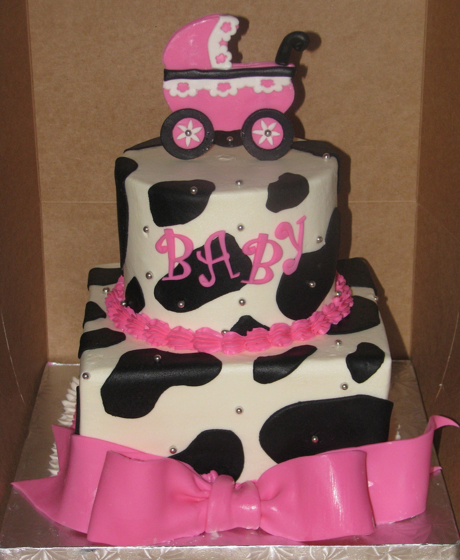 Cow Print Baby Shower Cakes