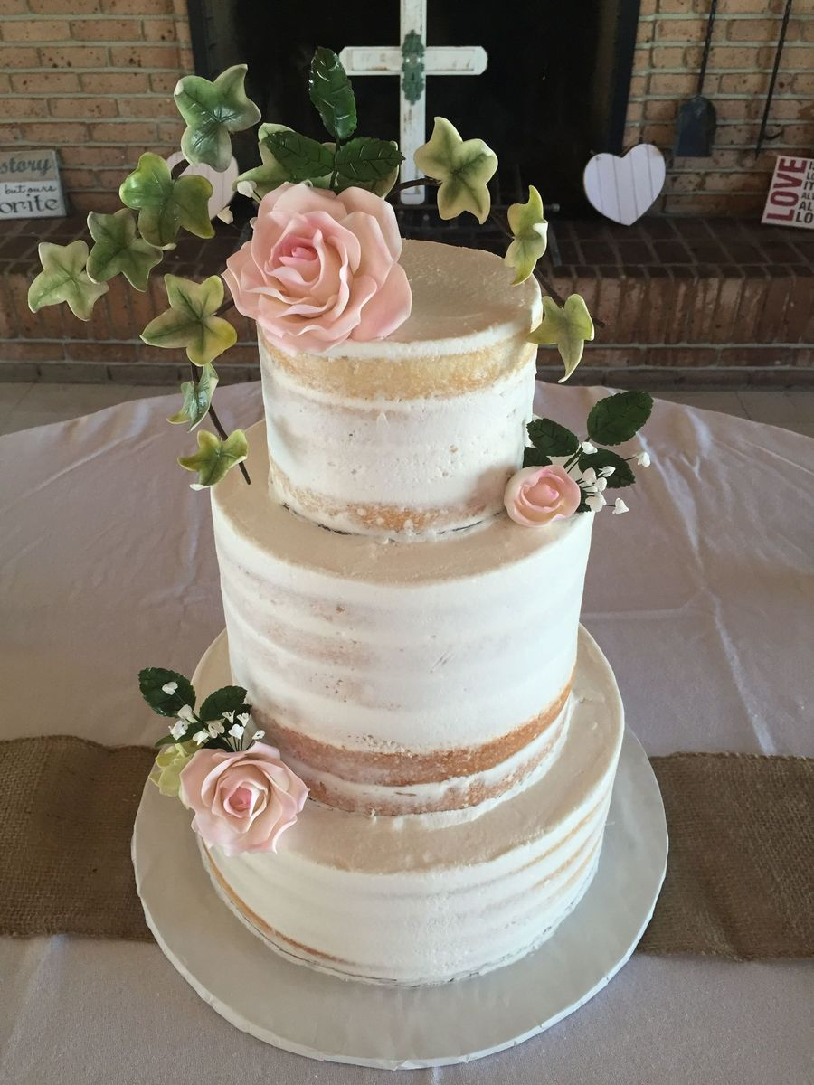 Rustic Naked Cake - CakeCentral.com
