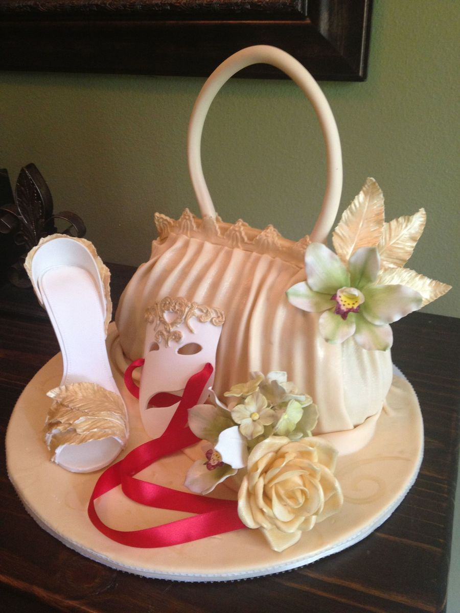 Birthday Cake For A Lady Who Loves Bags Theater And Shoes Wasc