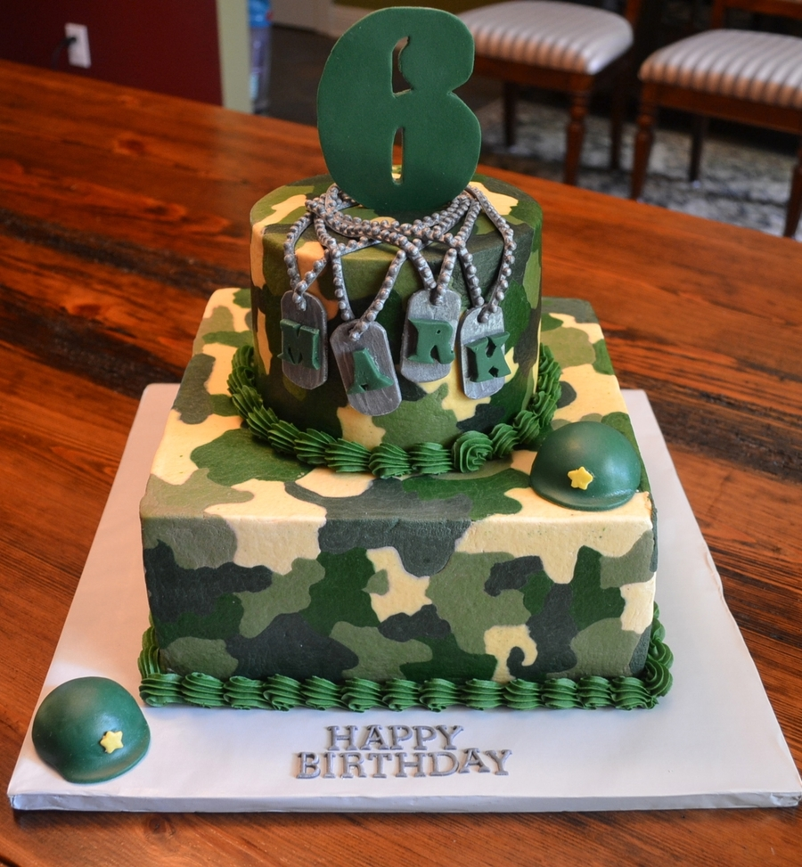 Army B'day Theme on Cake Central