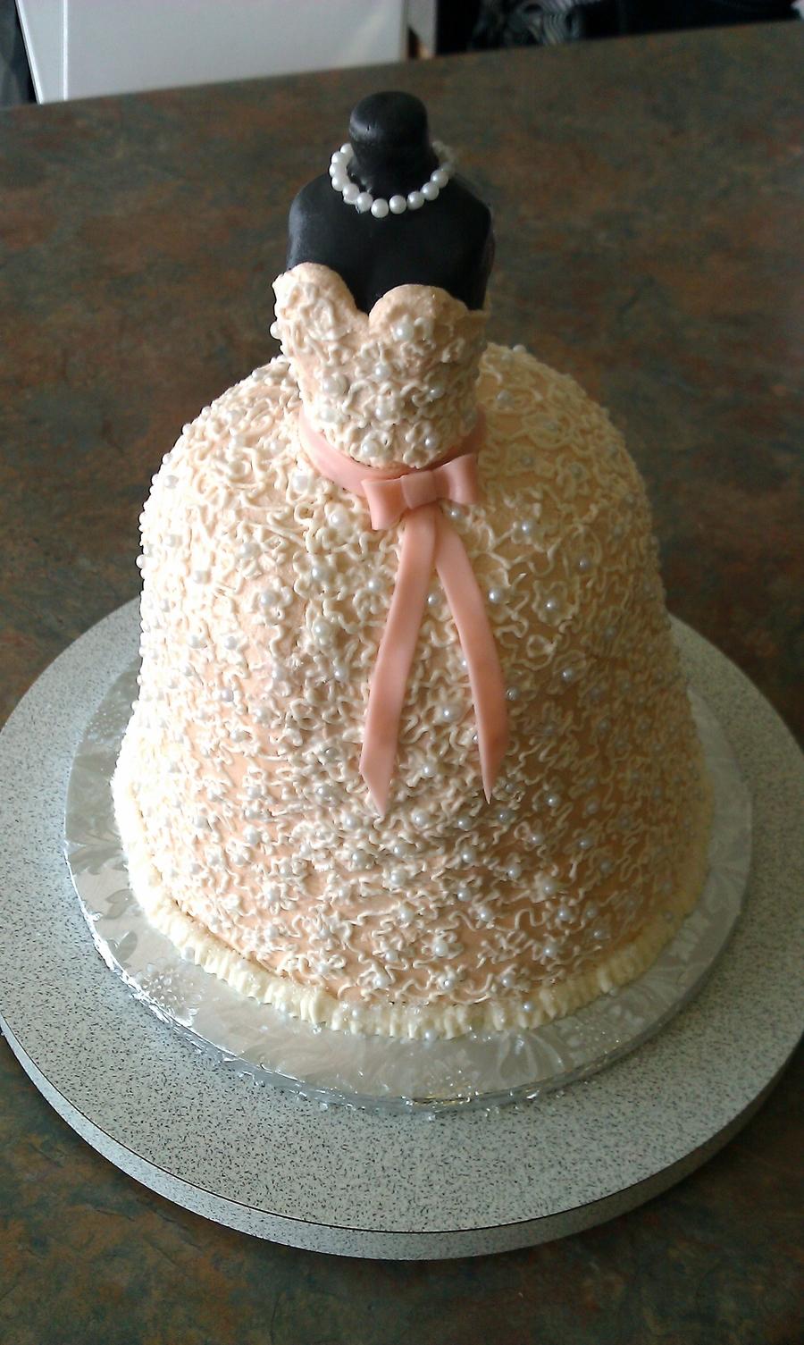Bridal Dress Cake - CakeCentral.com