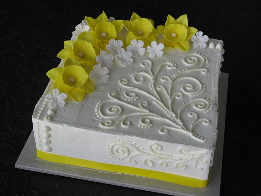 Daffodil Cake Decorations