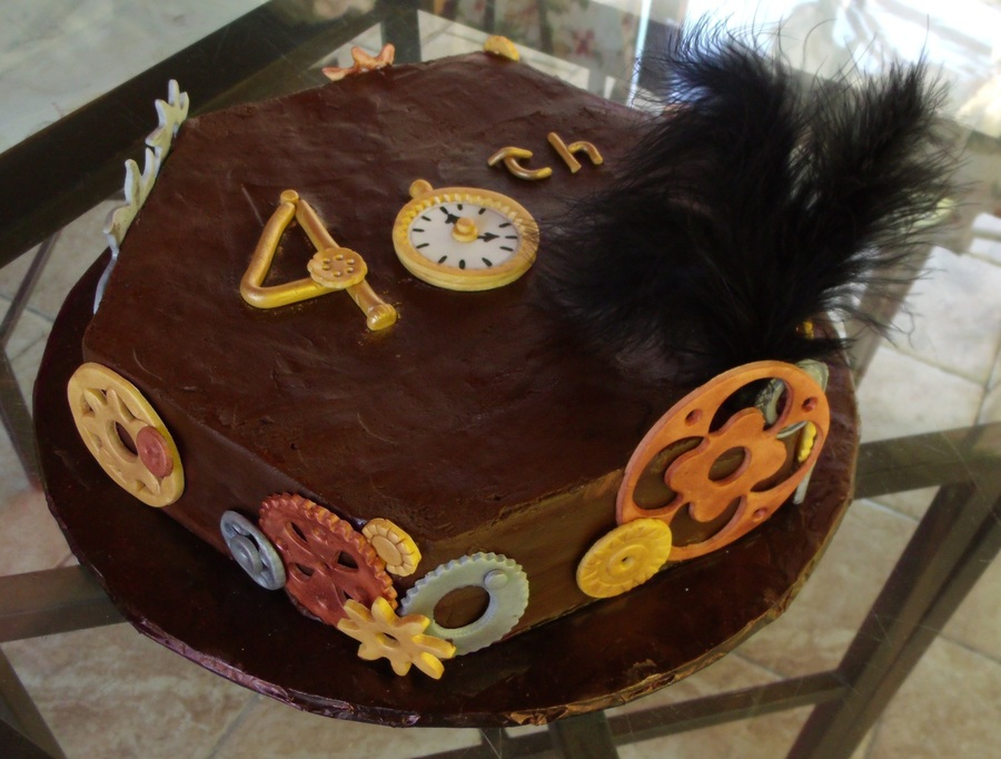 Steampunk 40Th Birthday Cake on Cake Central