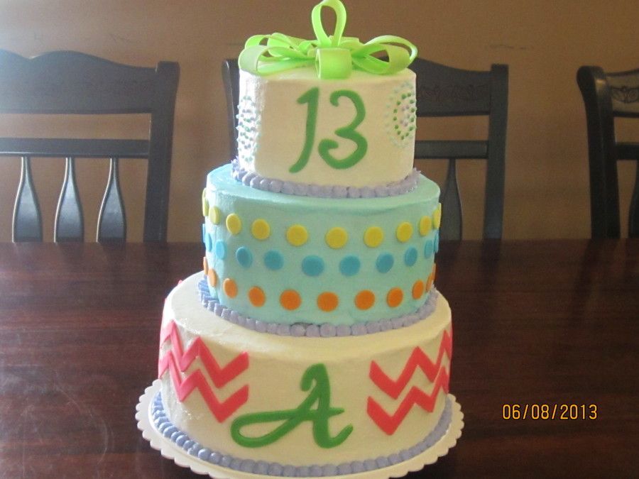 Birthday Cake For A Girl Turning 13 Cakecentral