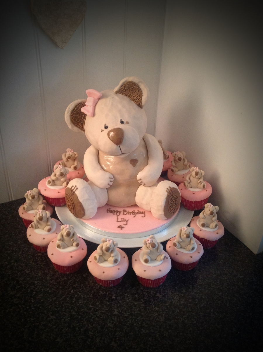 Teddy Bear And Cupcakes on Cake Central