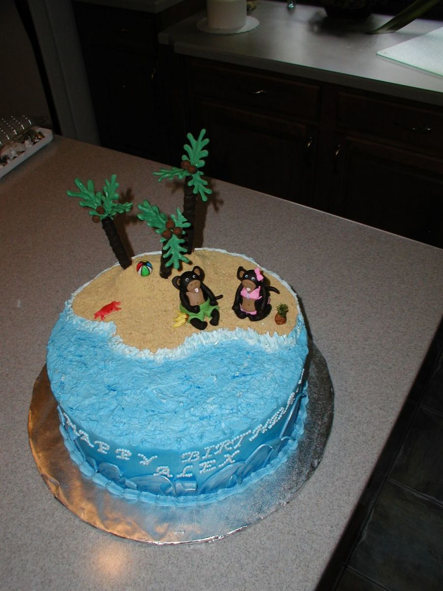 Monkey Beach Party  on Cake Central
