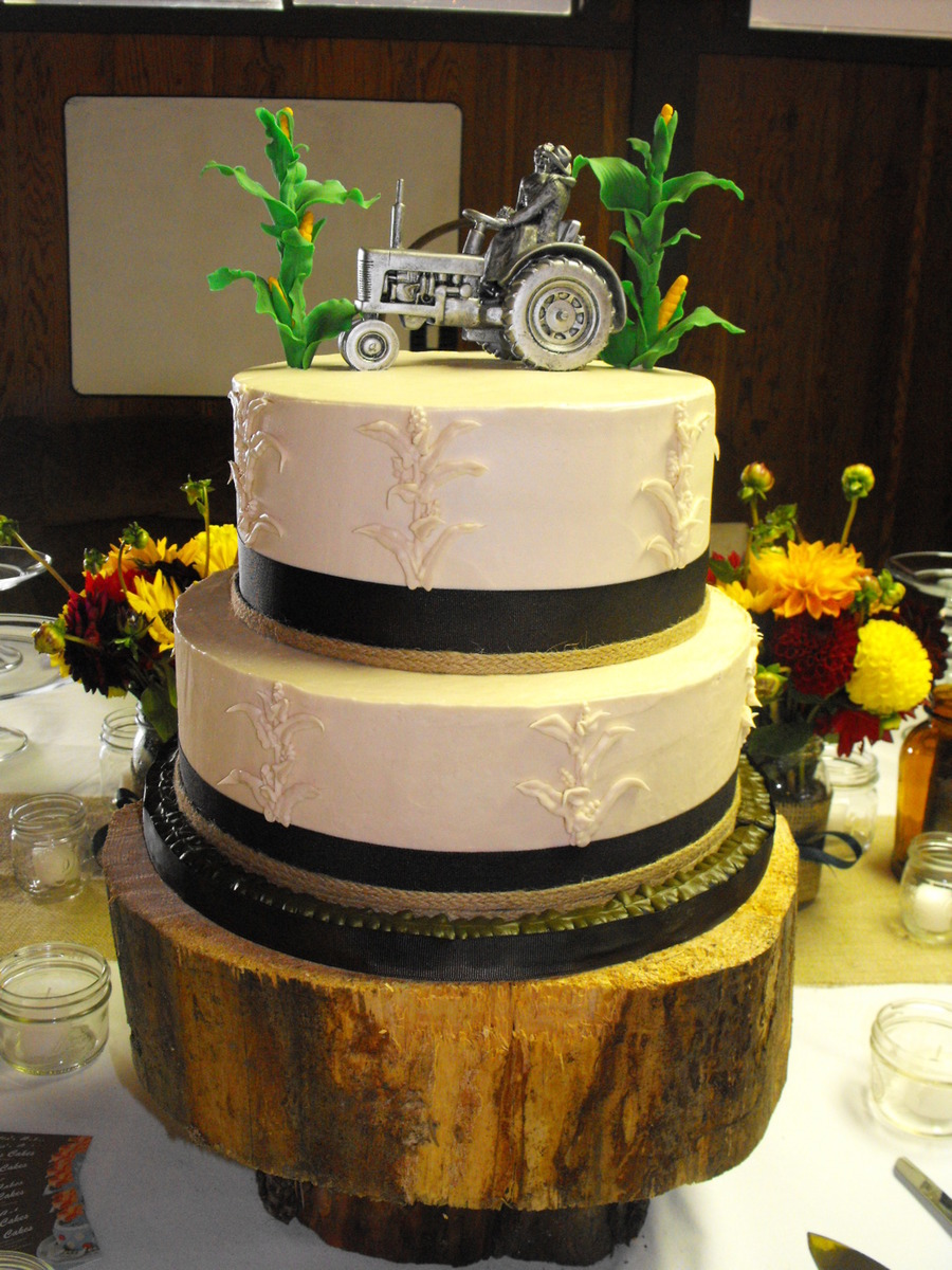 Fall Country Style Wedding Cake Cakecentral Com