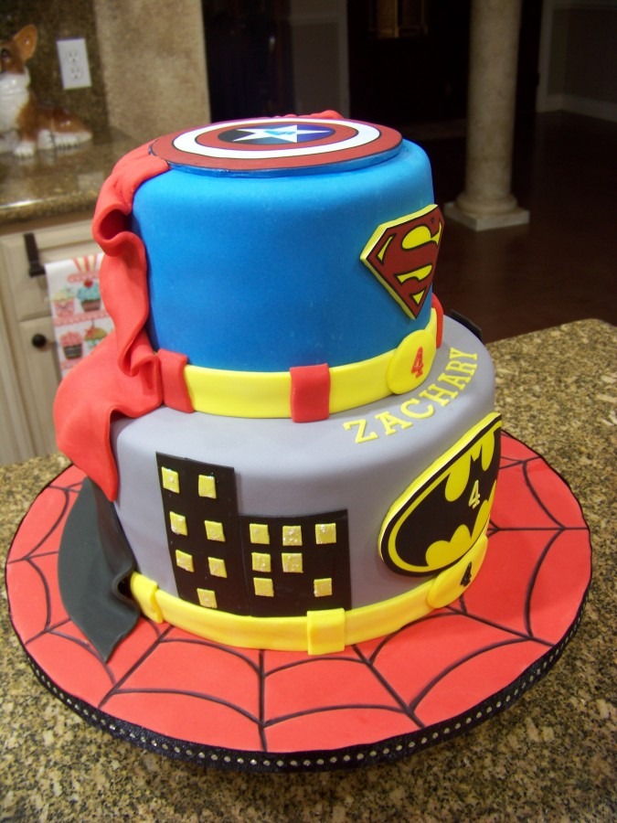 How To Make A Spiderman Cake Decoration