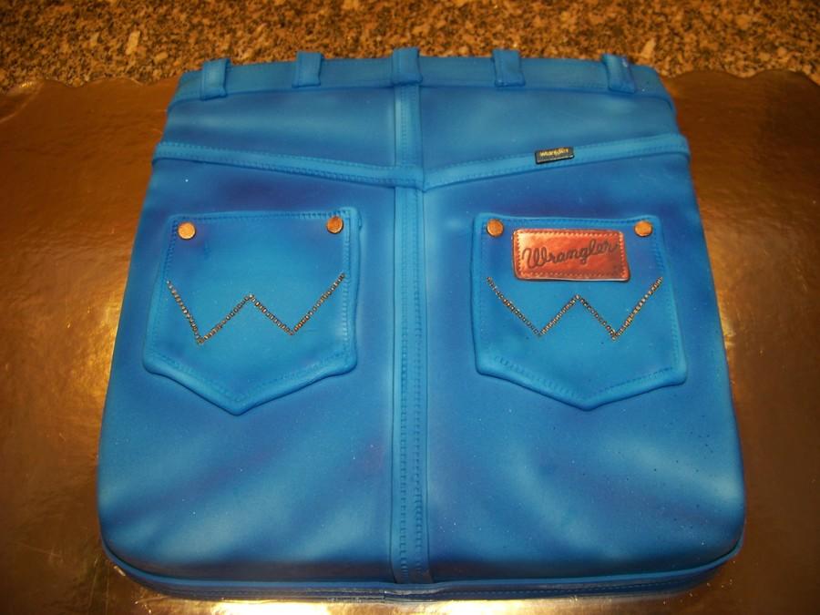 Wrangler Blue Jeans Cake - CakeCentral.com